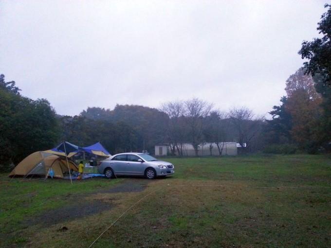 ホウリーウッズ久留里キャンプ村 オートサイト風景