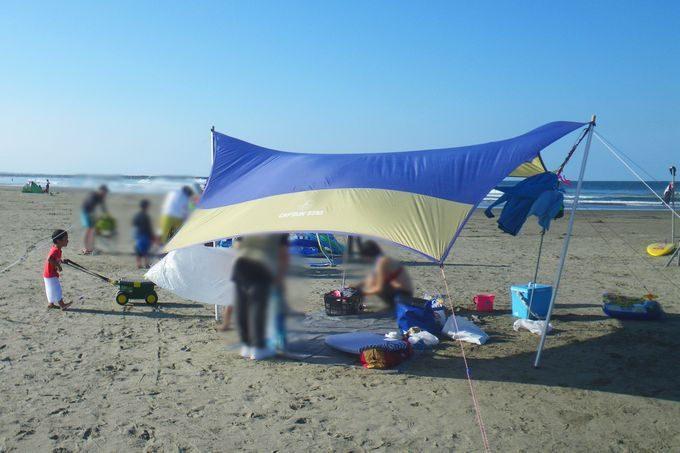 オルディナヘキサタープを海で使う