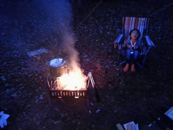 イレブンオートキャンプパーク 焚火とうたた寝