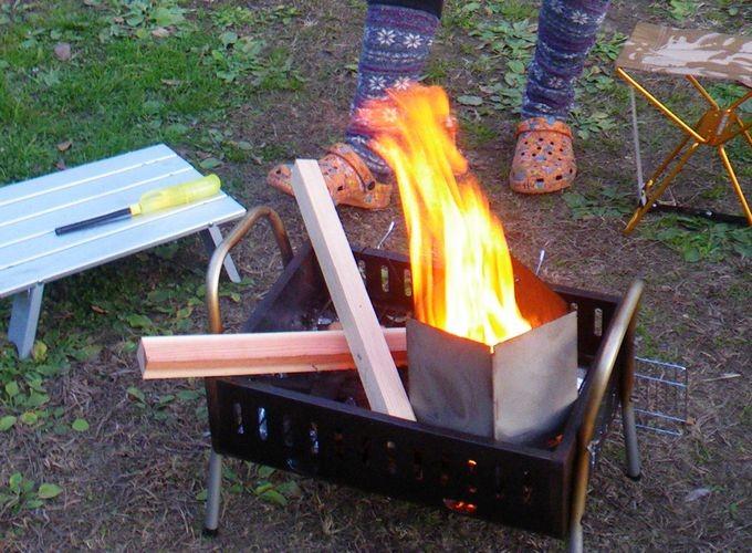 チャコスタをストーブとして使う 火起こし