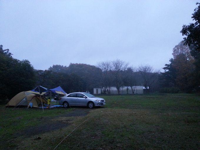 雨の日にキャンプ 風景2