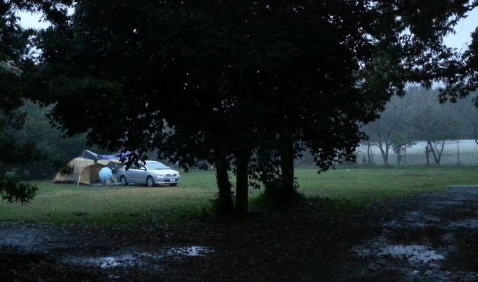 雨の日にキャンプ 風景1