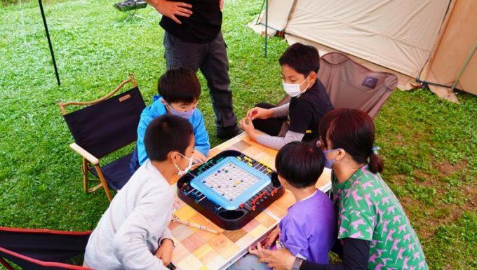 キャンプでサバイバルゲーム