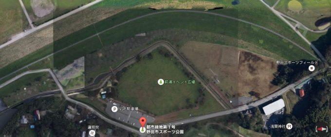 野田市スポーツ公園 Googleマップ