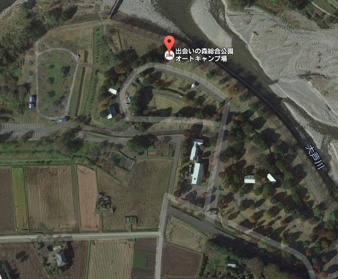 出会いの森総合公園オートキャンプ場 Googleマップ