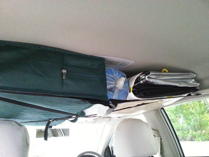 車内天井に荷物を収納