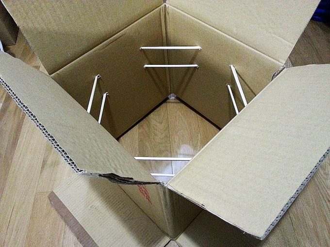 段ボール燻製器 の作り方4