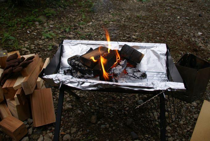 BBQグリル L で焚火