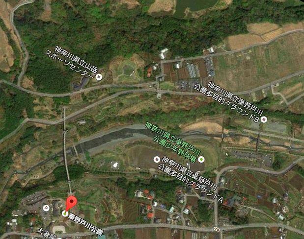 秦野戸川公園 Googleマップ