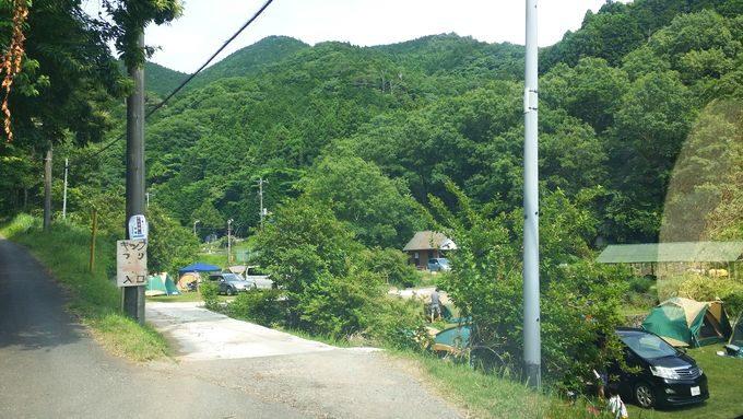 伊豆自然村キャンプフィールド 入口