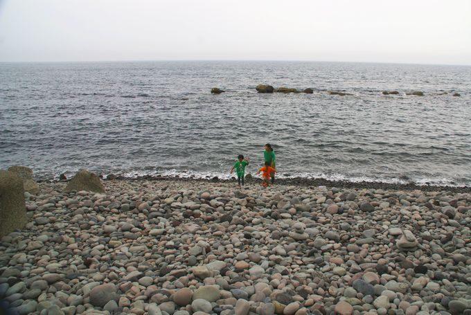 なみのこ村の海辺