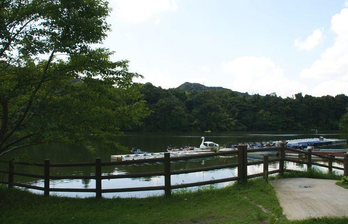 稲ヶ崎キャンプ場 自由広場から眺める湖畔1
