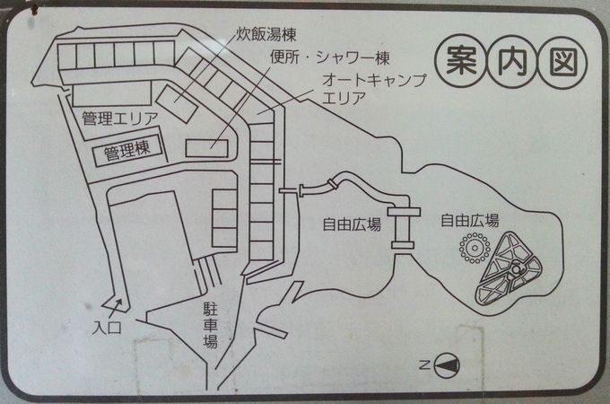 稲ヶ崎キャンプ場 場内マップ