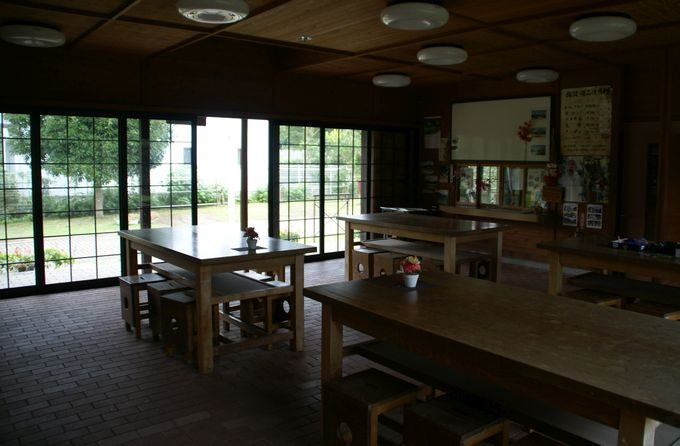 稲ヶ崎キャンプ場 管理棟の内部
