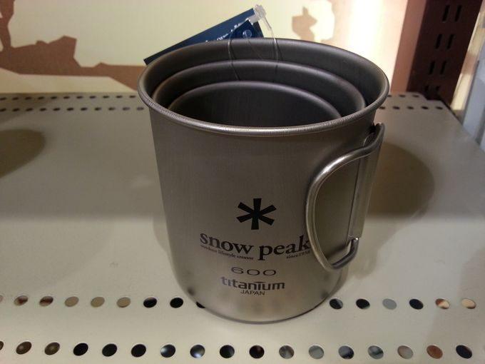 スノーピーク チタン シングルマグカップのスタッキング 300ml 450ml 600ml