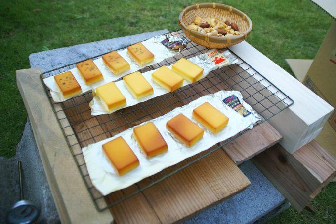 チーズとナッツの燻製の仕上がり