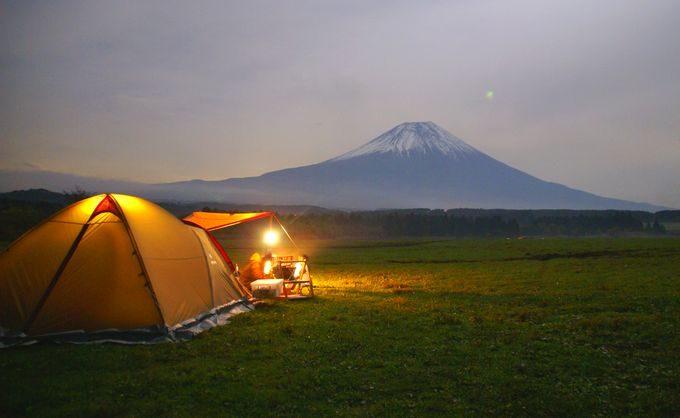 アメニティドームと夜の富士