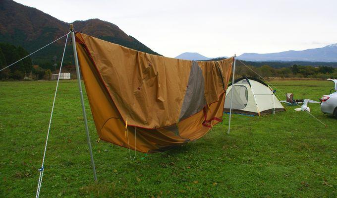 テントの乾燥方法