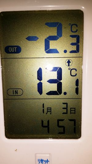 幕内外の気温