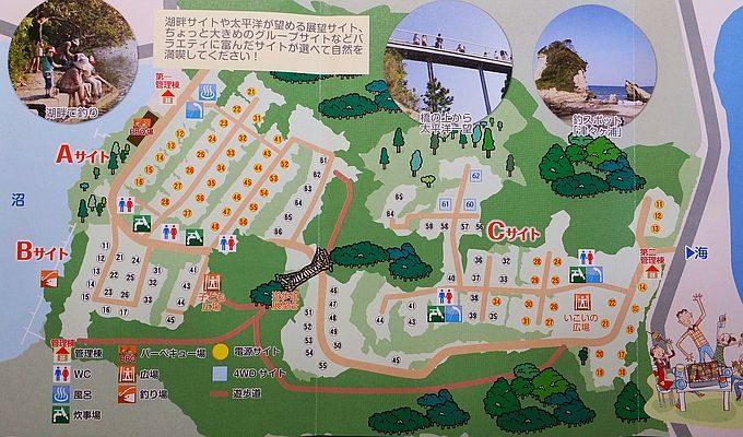 ワイルドキッズ岬オートキャンプ場 場内マップ