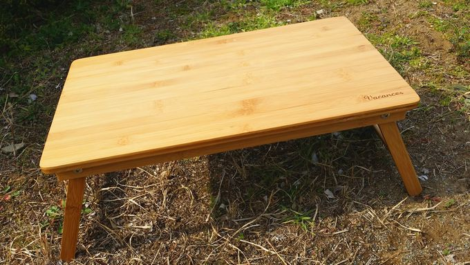 バカンスのバンブーテーブル