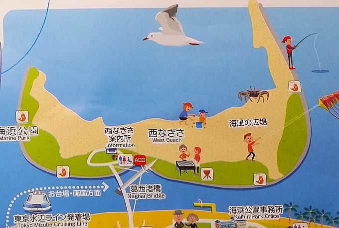 葛西海浜公園のマップ