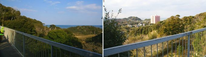 ワイルドキッズ岬の橋からの眺め 2