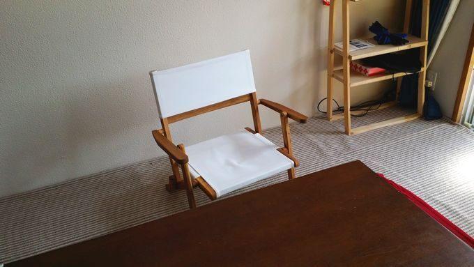 ニトリの木製ローチェアは家でも使える