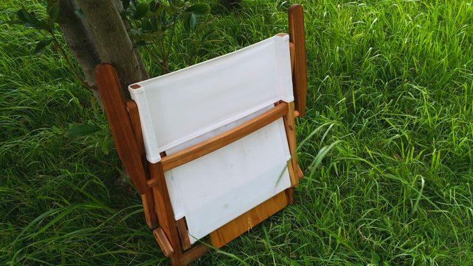 ニトリの木製ローチェアとバカンスのバンブーテーブルを収納(逆サイド)
