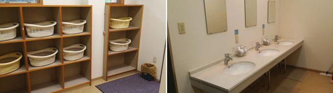 お風呂場の脱衣所と洗面台