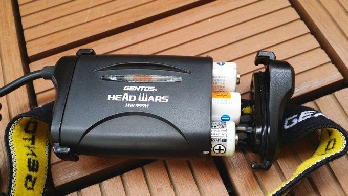 ジェントスのヘッドライト HW-999H 電池は単3電池3本