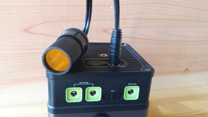 iMuto DC to AC インバーターに付属するシガーソケット