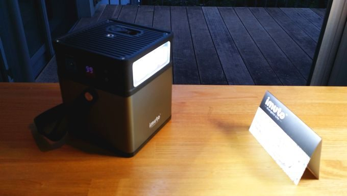 imuto DIGI POWER CUBE M5 LEDライトを点灯
