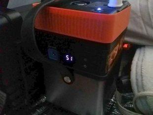 iMuto M5 で電気毛布を一番弱で使ったら7時間の使用でバッテリー半分消費