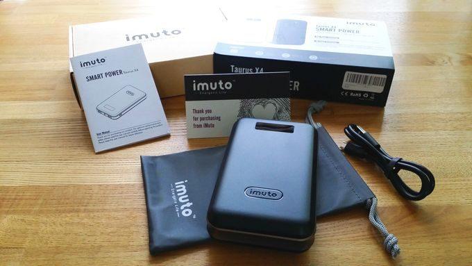 imuto 20000mAh モバイルバッテリー (Taurus x4) の付属品