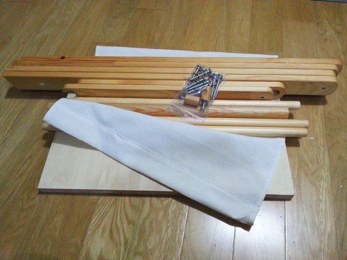 キャンプで使う木製のおしゃれラックを分解