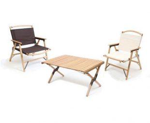 ハイランダー ウッドフレームチェアとテーブル