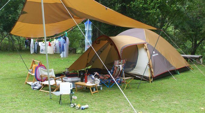 キャンプ道具がゴチャゴチャ