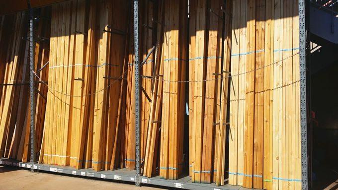 自作ラック(大)の部品 杉の板