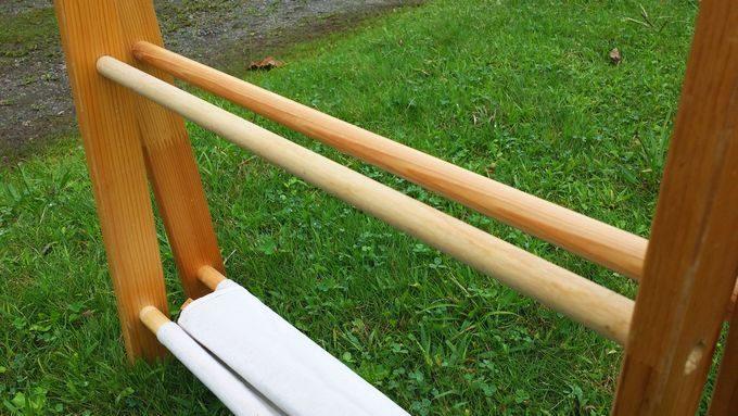 キャンプ用 木製 おしゃれラック 棒