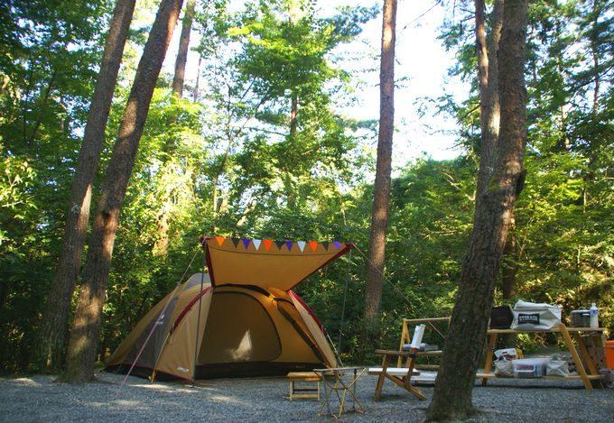 テントの設営完了