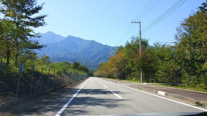 山梨県白州近辺の道路