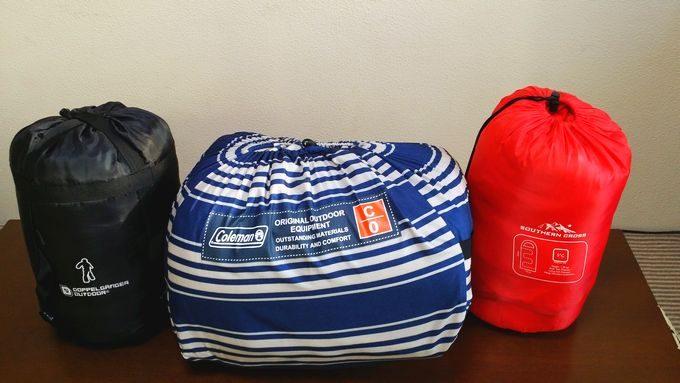 コールマンの寝袋 フリースフットイージーキャリースリーピングバック/C0 のサイズ