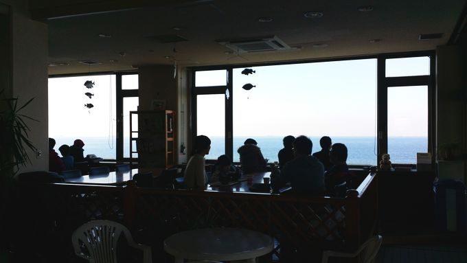 市原市海釣り施設の食堂