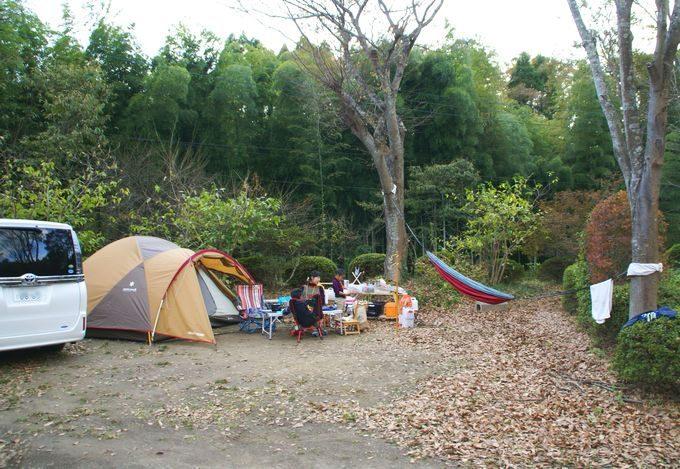 柿山田オートキャンプガーデンで設営完了