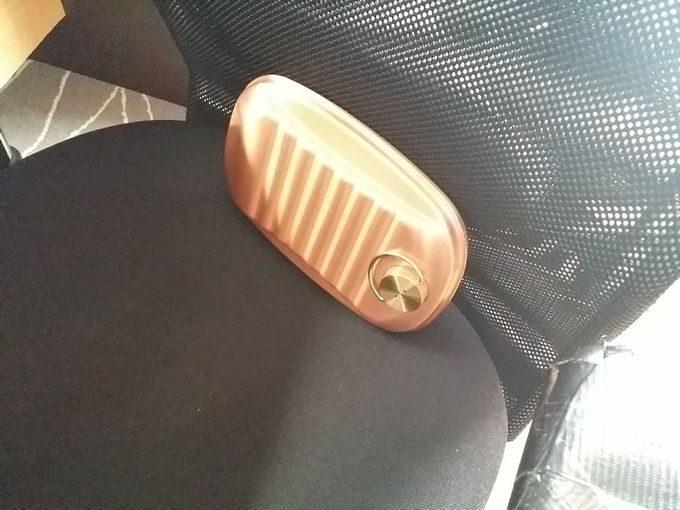 新光金属 純銅製 湯たんぽ 小(1.2L)を背中に当てて使う