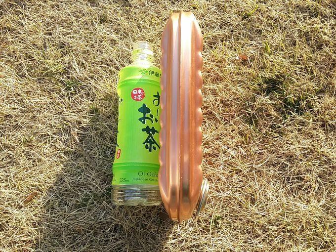 新光金属 純銅製 湯たんぽ 小(1.2L)の厚さ