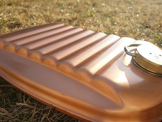 新光金属(新光堂) 純銅製 湯たんぽ 小(1.2L) 上面