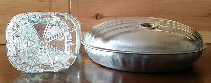 マルカ湯たんぽ A エース 3.5L の高さ 2Lペットボトルとの比較
