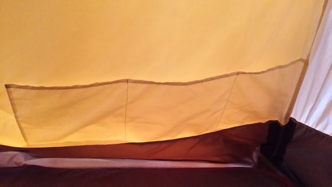ヴォールト テント内のポケットは3つのポケット